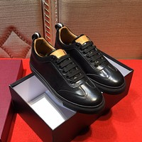 Bally Helliot Men's Plain Calf Leather Trainer Black Sneakers Shoes