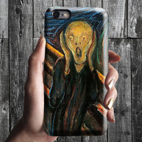 The Scream 2 - Edvard Munch iPhone Case 6, 6S, 6 Plus, 4S, 5S. Mobile Phone Cell. Art Painting. Gift Idea. Anniversary. Gift for him and her