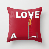 You're Never Alone With Love In Your Heart Throw Pillow by Dale Keys | Society6
