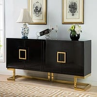Traditional High Glossy Buffet  Cabinet