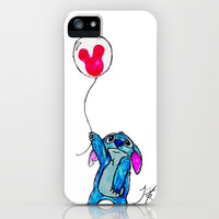Stitch doesn't want to leave Disney World iPhone Case by Trinity Bennett   Society6