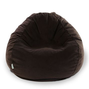 Dark Brown Micro-velvet Small Classic Bean Bag