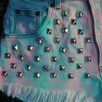 Cotton Candy Highwasted Studded Shorts