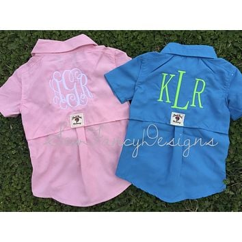 Baby Fishing Onesuit/Shirt Monogrammed