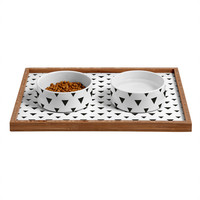 Allyson Johnson Upside Down Triangles Pet Bowl and Tray