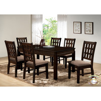 Antique brown dining set by HD Furniture