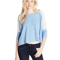 Derek Heart Juniors Bateau-Neck Top with Raglan Sleeves