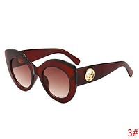 FENDI Fashion Women Men Simple Casual Sun Shades Eyeglasses Glasses Sunglasses(6-Color) I13883-1