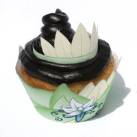 Princess Tiana - Inspired Printable Princess and the Frog Cupcake Wrapper (Instant Download)
