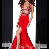 Beaded Accent Ruched Hips Prom Dress By Panoply 14694
