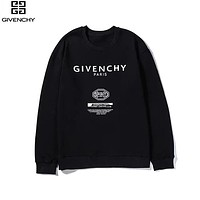 Givenchy 2019 new printed letter cotton pullover long sleeve sweater Black
