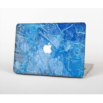 """The Deep Blue Ice Texture Skin Set for the Apple MacBook Pro 13"""" with Retina Display"""