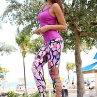 Equilibrium Yoga Leggings | Laser Cut Activewear Leggings