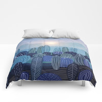 Lines in the mountains 04 Comforters by vivianagonzlez