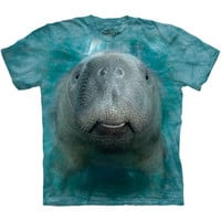 BIG FACE MANATEE T-Shirt The Mountain Save The Sea Cow Animal S-5XL NEW
