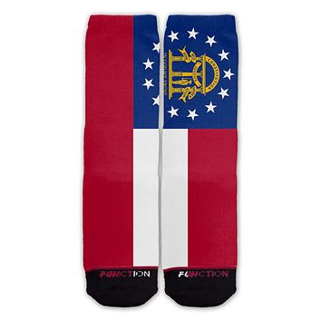 Function - Georgia State Flag Fashion Socks