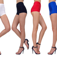 Candy Color Nylon Sleek High Waist Tight Stretchy 11052 Butt Pin Up Shorts