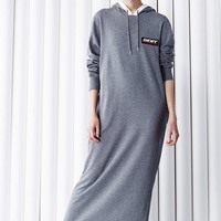 DKNY for Opening Ceremony DKNY Athletic Tag & Logo Hooded Dress - WOMEN - DKNY for Opening Ceremony