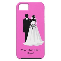 Bride and Groom Silhouettes iPhone 5 Cases