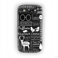 Harry Potter Spells Cover For Samsung Galaxy S3 Case