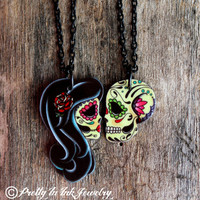 Ashes to Ashes . . . His and Hers Necklaces