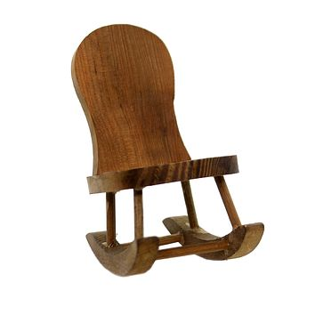 Miniatures ROCKING CHAIR Wood Granny Child 621ROCK