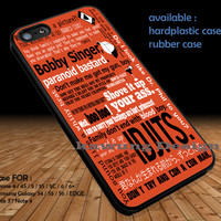 Supernatural Art Collage Quote DOP1321 iPhone 6s 6 6s+ 5c 5s Cases Samsung Galaxy s5 s6 Edge+ NOTE 5 4 3 #quote