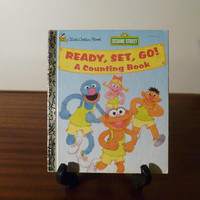 "Vintage 1995 Sesame Street's ""Ready, Set, Go! A Counting Book"" - A little Golden Book / Kids Book / Great Condition / Sesame Street Muppets"