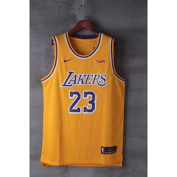 2018-2019 LeBron James Los Angeles Lakers #23 Nike Fanatics Branded Icon Edition jerseys