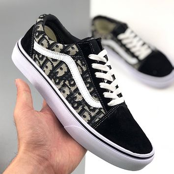 Dior x Vans low-top casual canvas shoes for men and women