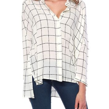 Game Of Rules Grid Shirt - Ivory