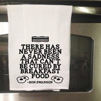 Breakfast Food Ron Swanson - Parks and Recreation - Towel
