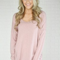 Hold On To Me Sweater ~ Pink