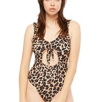Bombshell Leopard Animal Print One-Piece Bathing Suit
