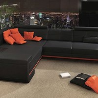 Exotic Leather Sofa Sectionals - Opulentitems.com