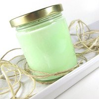 Gummy Bears scented Soy Candle - Fluorescent Soy Candle -- 8 ounce Jar
