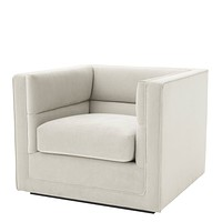 Light Gray Upholstered Armchair | Eichholtz Adonia