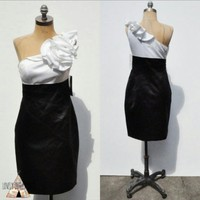 Adrianna Papell Dress Satin With Rosette