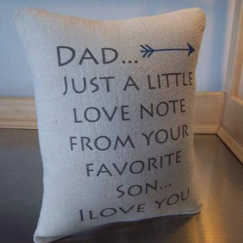 Dad from son gift pillow father birthday cotton cushion