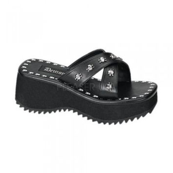 Demonia Skull & Bones Studs Platform Sandals :: VampireFreaks Store :: Gothic Clothing, Cyber-goth, punk, metal, alternative, rave, freak fashions