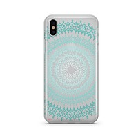 Gypsy Teal Mandala [@okitssteph X @milkywaycases] - Clear TPU - iPhone Case