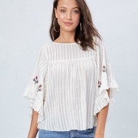 Lina Embroidered Top Lovestitch