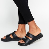 Nike Benassi Duo Flat Sandals at asos.com