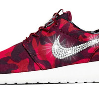 Nike Roshe One Customized by Glitter Kicks - Red/Black Camo