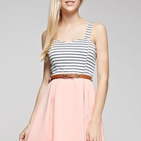 Summer Sun Striped Skater Dress
