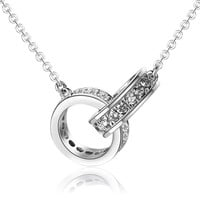Sterling Silver Crystal Pendant Necklace Fine Jewelry Love Passion Romance