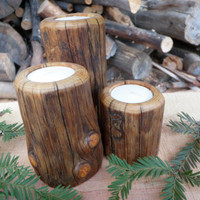 candleholders WITH FREE SHIPPING, candle holders, candle holder, lodgepole pine