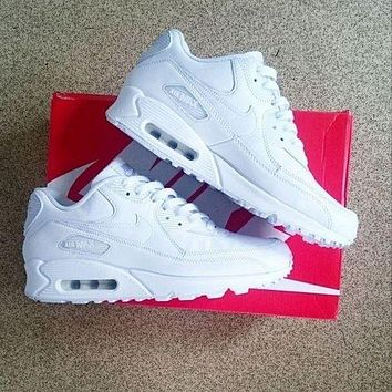 NIKE AIR MAX women's trendy sports running shoes white