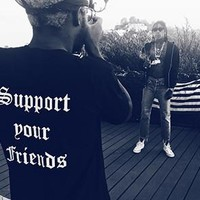 """""""Support Your Friends"""" tee (Black)"""
