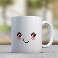 Emoticon - Smiley Face - Cute Mugs - Gift for Her - Sister Gift - Girlfriend Gift - Coffee Mugs - Tea